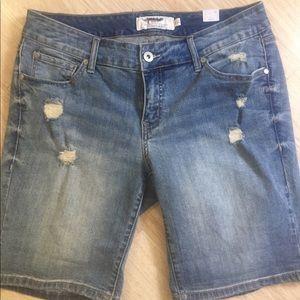 Torrid Bermuda Jean Shorts